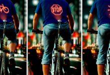 Un proyector de señales para andar en bici