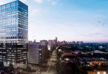 Un edificio sustentable crece en el nuevo polo de oficinas de la ciudad
